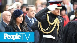 Meghan Markle Makes Her Debut Visit To The Field Of Remembrance Alongside Prince Harry | PeopleTV