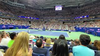 Novak Djokovic Vs Stan Wawrinka 2019 US Open Round of 16 set point Arthur Ashe