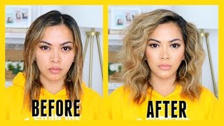 HOW TO GET BIG BEACH WAVES HAIR TUTORIAL! (fast, easy and affordable))