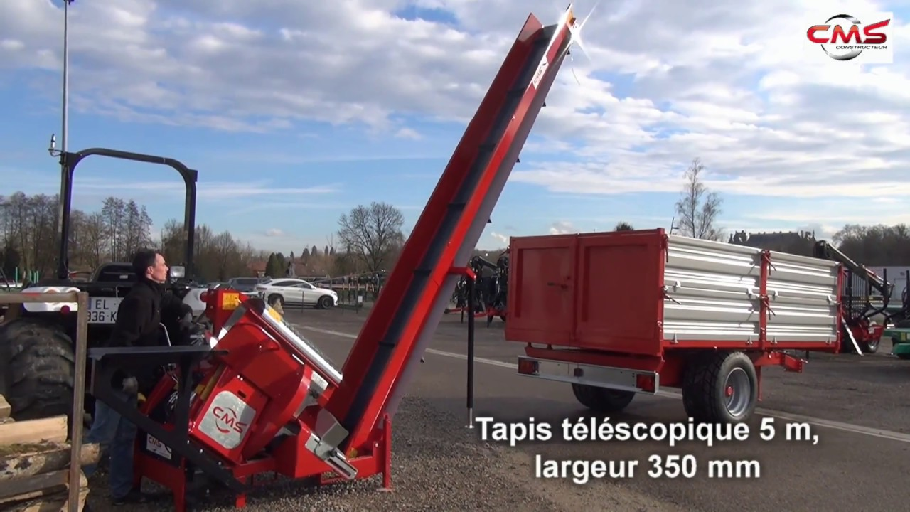 Combine Scie Circulaire A Chevalet Incline Cms Avec Tapis 5m Youtube