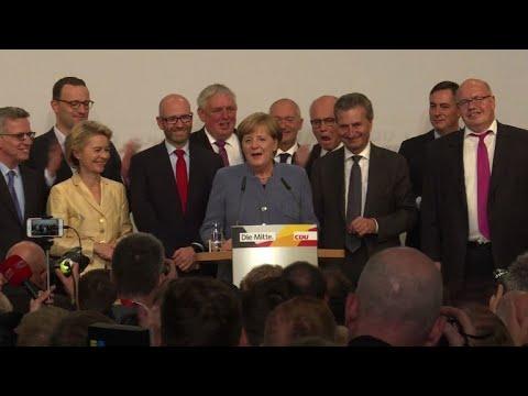 Angela Merkel conquista 4º mandato