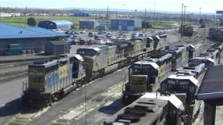 Selkirk rail yard with new CSX logos, full power and more