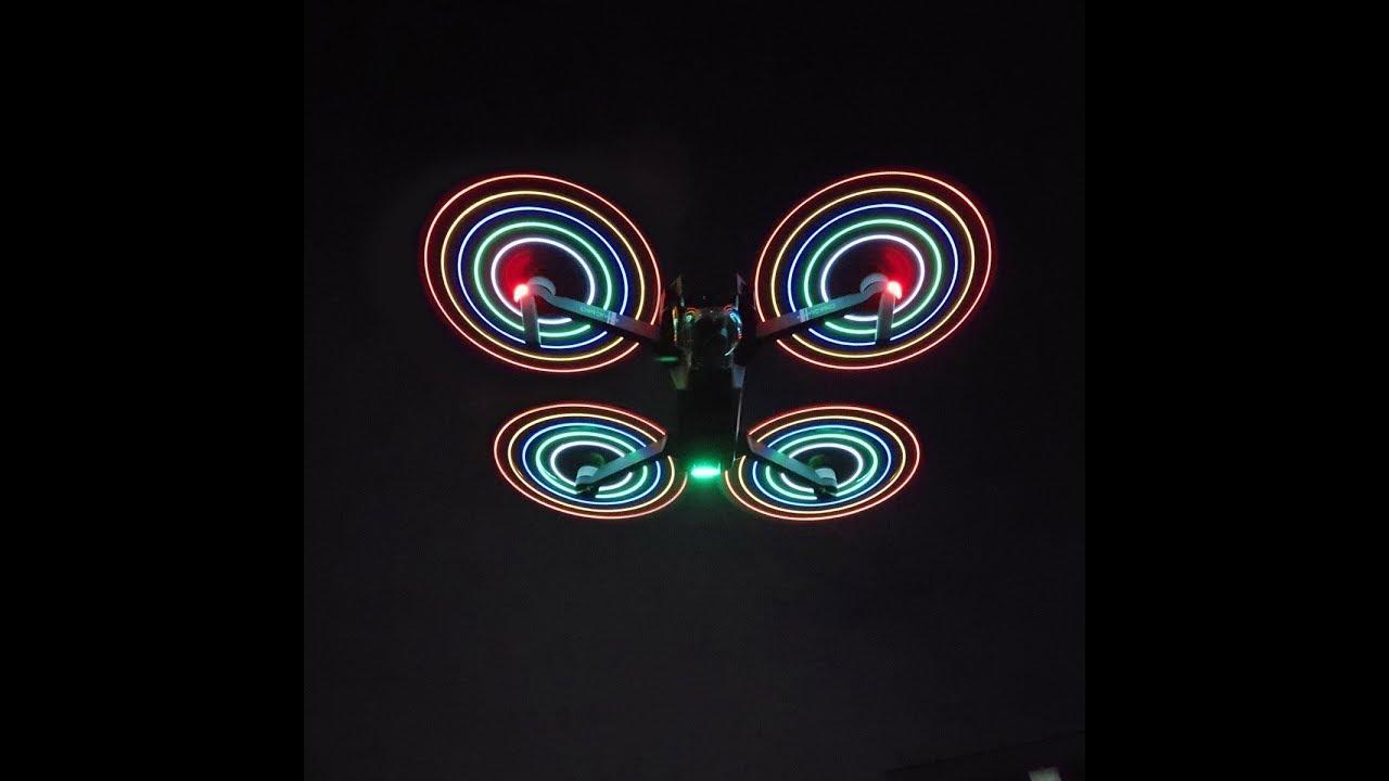 LED Licht Blitz Propeller für DJI Mavic Pro - YouTube