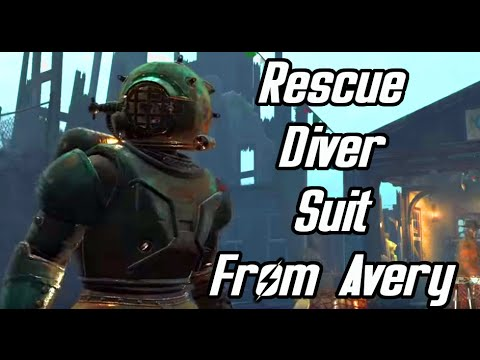 Fallout 4 Far Harbor - Avery Rewards me the Rescue Diver Suit - New Legendary Armor