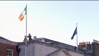 Dublin flies the EU Presidency flag