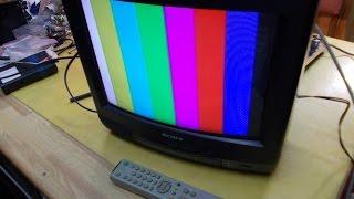 Ремонт телевизора SONY KV-G14Q1.TV Reparaturen. Курсы телемастеров.