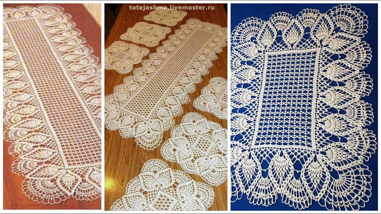 مفرش مستطيل أو مربع وامكانية تكبيره وتصغيره بالكروشية الجزء ١ Crochet Doily Rectangle Or Square Youtube