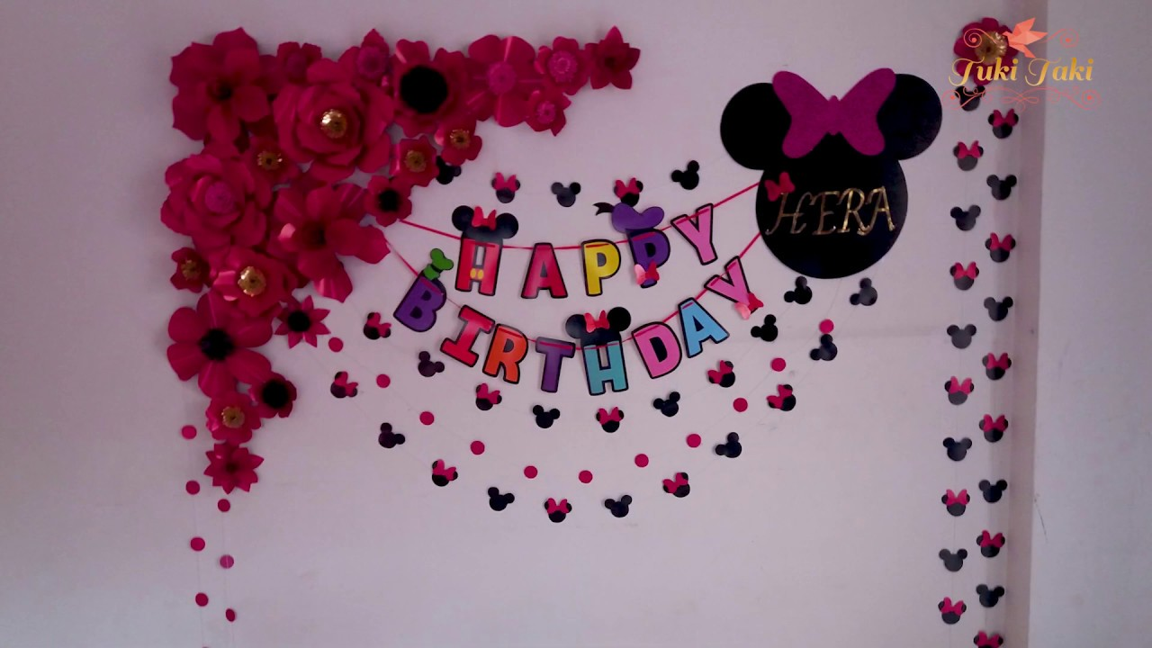 Birthday Decoration Ideas At Home Decoration Idea 2019