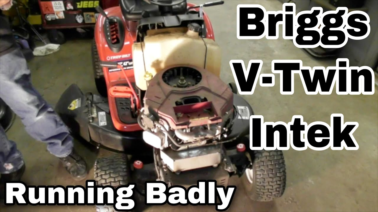 how to fix a briggs and stratton v twin intek engine that is running badly bent push rod  [ 1280 x 720 Pixel ]