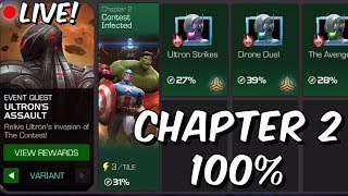 Ultron's Assault: Variant (Hard Mode) Chapter 2 100% Push Part 1 - Marvel Contest Of Champions