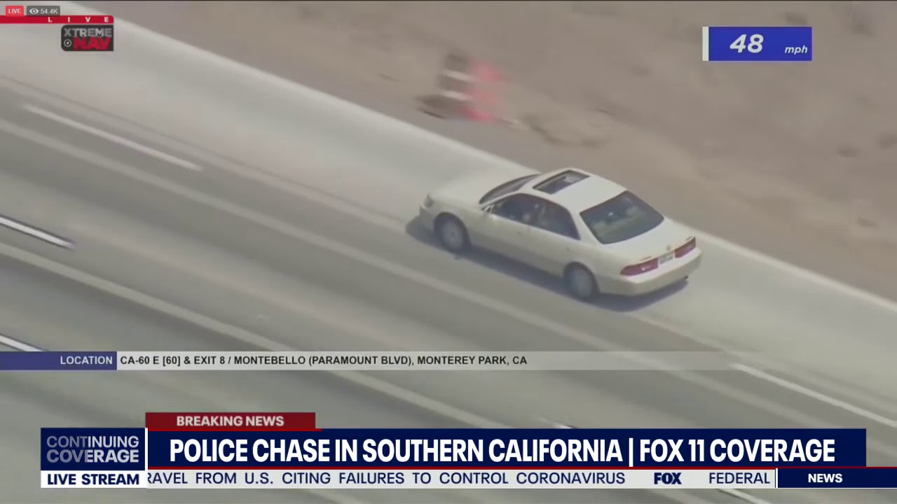 BACKED IN: SoCal police chase suspect parks ahead of surrender
