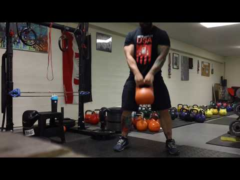 Staggered Stance Kettlebell Swing  for a Better Butt and Mountain Biking Skills ? Pt.1