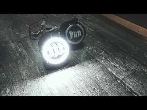 Противотуманные светодиодный фары Шевроле Нива, Приора 50 ватт с ангельскими глазками