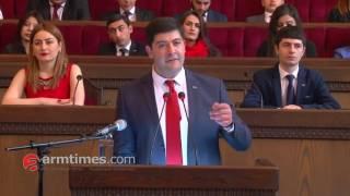 armtimes com/ Դավիթ Հարությունյանի ելքույթը ՀՎԿ երիտասարդական միության համագումարում