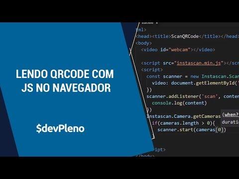 Lendo QRCode com Javascript no Navegador