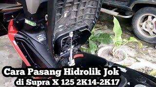 Pasang Hidrolik Jok Motor di Supra X 125 [ Tutorial ] | Motovlog Indonesia
