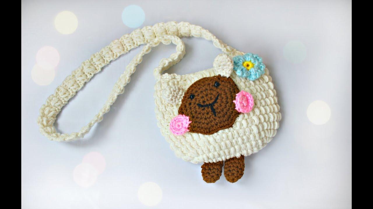 2e6daa5d4187 Сумочка крючком - овечка (часть 2)/Crochet bag (part 2) - YouTube