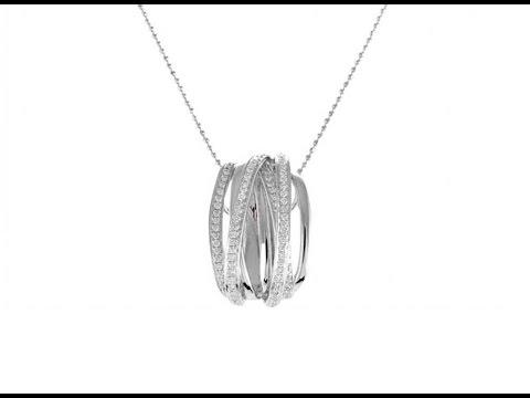 White Gold Diamond Pendant In Dubai