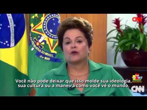 Dilma Rousseff - Christiane Amanpour interview with Brazilian President #HD #3D [LEGENDADO]