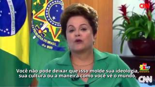 Dilma Rousseff - Christiane Amanpour interview with Brazilian President #HD #3D [LEGENDADO]