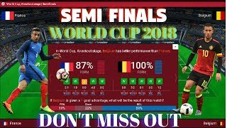 FRANCE VS BELGIUM PREDICTION 2018 LIVE ♛ WORLD CUP 2018 ♛  KNOCKOUT STAGE | SEMIFINALS LIVESCORE