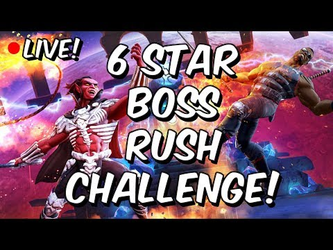 6 Star Boss Rush Challenge LIVE! - Marvel Contest Of Champions
