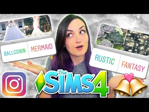 My Instagram Followers Control My Sim's WEDDING | Sims 4 Challenge