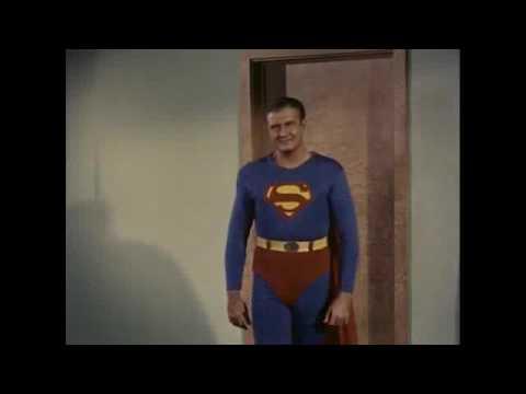 Superman defeated by Kryptonite George Reeves Superman Week edited