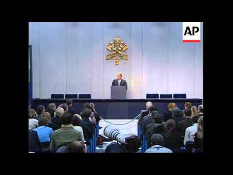 WRAP Vatican says Pope shows first signs of losing consciousness