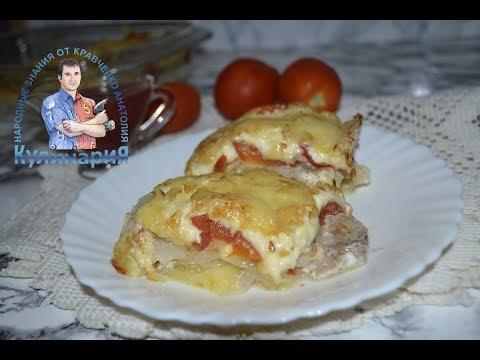 отбивные с картошкой и сыром в духовке