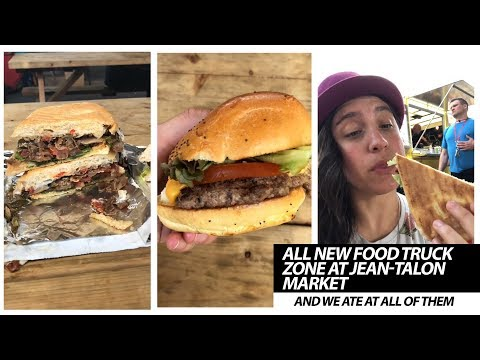 Trying Out All The Food Trucks At Montreal's Jean-Talon Market