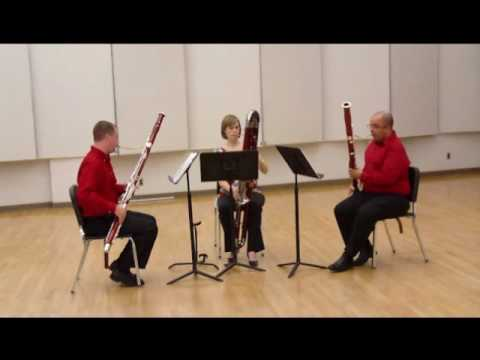 Victor Bruns. Trio for two bassoons and contrabassoon. 2nd 3rd  and 4th movements