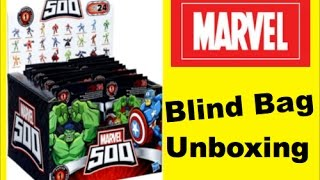 marvel 500 series 1 blind bags opening with thor hulk more   pstoyreviews