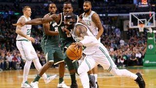 Kyrie Irving 32 Pts vs Giannis Antetokounmpo 40 Pts! Bucks vs Celtics 2017-18 Season