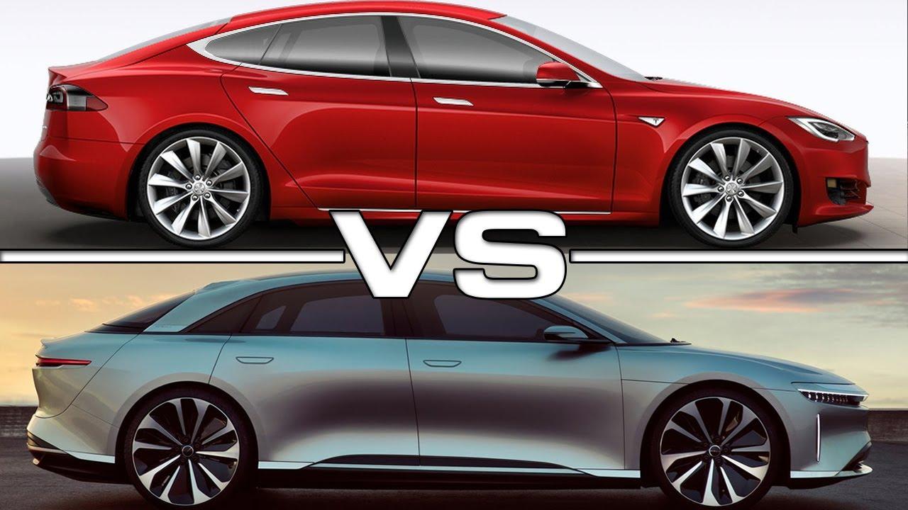 2019 Lucid Air vs 2017 Tesla Model S P100D - YouTube