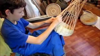 Плетение сферической корзины. Лозоплетение.