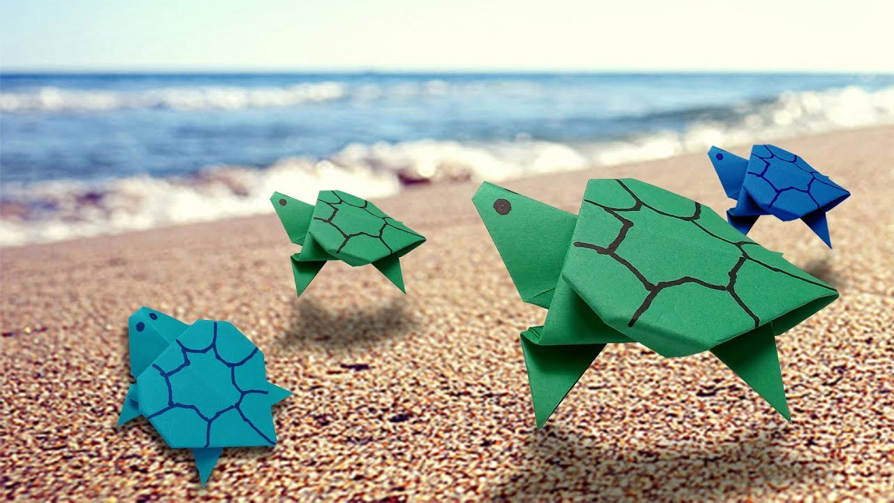 Origami How to make origami turtle. Paper tortoise for beginners ... | 720x1280