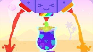 Sago Mini Juice Café - Make Fun Magical Reaction Drink - Funny Video gameplay