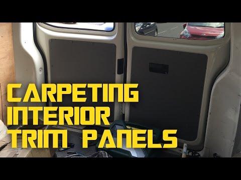 VW T5 Campervan Conversion - Carpeting interior trim