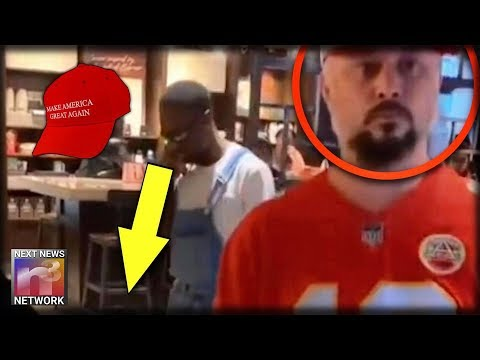 Do You Know This Angry WHITE Democrat Thug Who Bullied A BLACK Man For Wearing A Trump MAGA Hat?