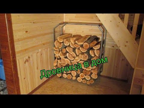 Дровница в дом.Чтоб дрова под рукой!