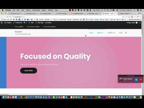 Trainers 5 How to create website using Wordpress Theme Suffice