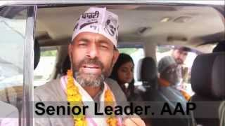 aap leader yogendra yadav's  roadshow in favour of dr.dharamveer gandhi, patiala