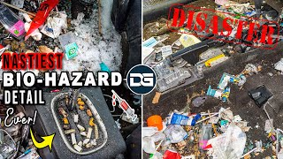 Super Cleaning The NASTIEST Car I've Ever Seen! | INSANE Bio-Hazard Detailing Transformation!!