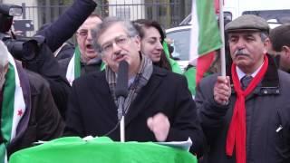 احتجاجات في باريس ضد التدخل الايراني في سوريا