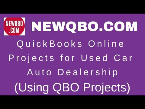 QuickBooks Online Projects for Used Car Auto Dealership | Used Car Inventory
