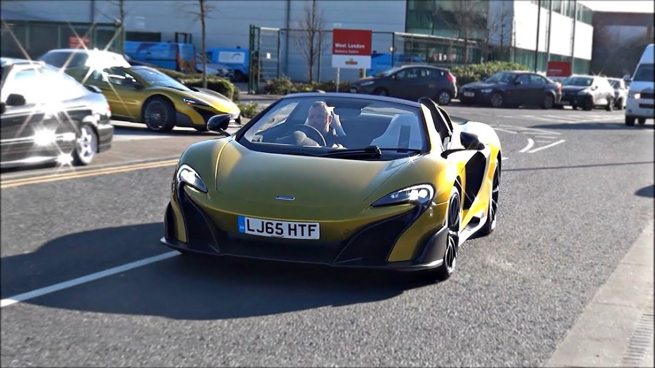 FIRST 2017 McLaren 675 LT Spiders on the road!! - YouTube
