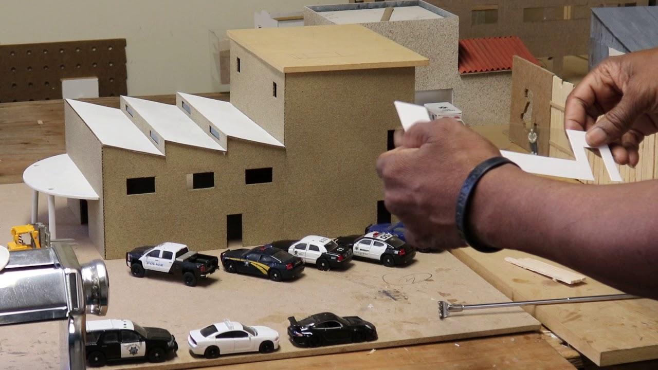 How to make a realistic miniature Diorama City DIY8 1/64 Die-cast Police