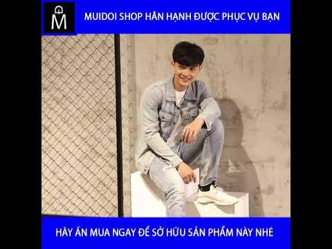 Áo Khoác Jeans Nam Xanh ôm Trơn A355 MuiDoi | áo Khoác | áo Khoác Jeans