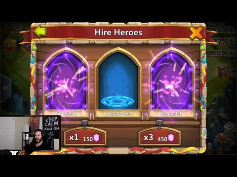 Rolling 100,000 Gems For Asura New Hero CRAZY Session Castle Clash